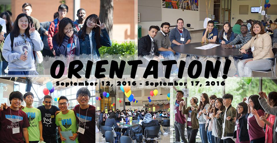 Pictures from past International Student Orientation Programs; Fall 2016 International Student Orientation Program is from September 12 to 17.