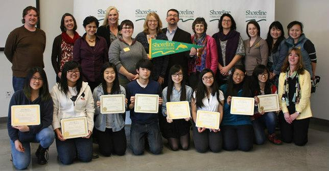 International students receive scholarships from Shoreline's Foundation.