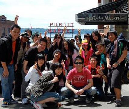 International Students at Pike Place